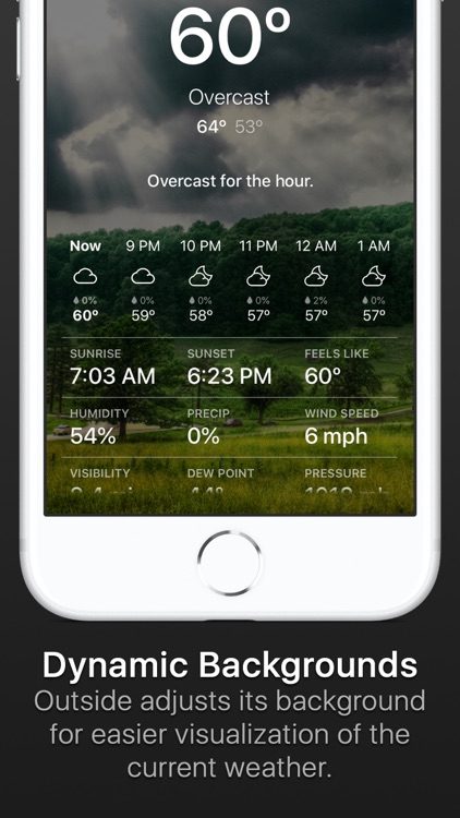 Outside - weather at a glance screenshot-3