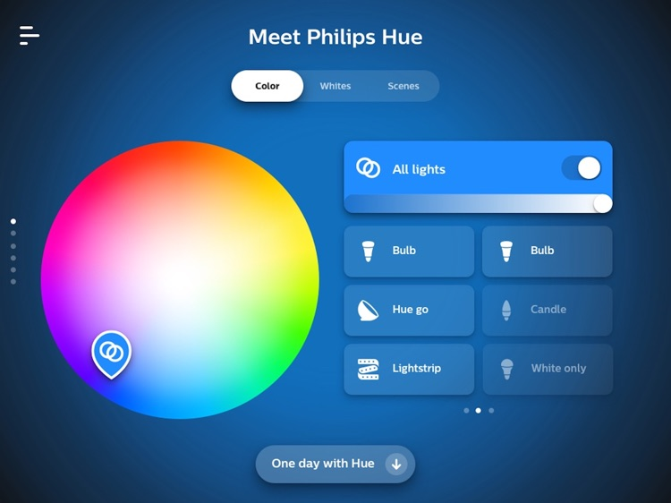 Philips Hue in-store app