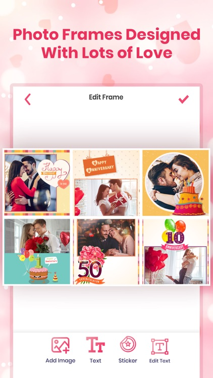 Anniversary Photo Frames Cards