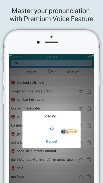 English Croatian Dictionary + screenshot-3