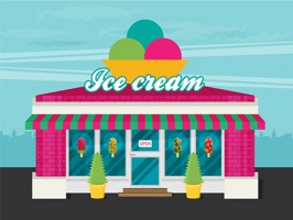 The IceCreamShopME is a small sticker, which are show the 50 Ice Cream Shop sticker in cartoon