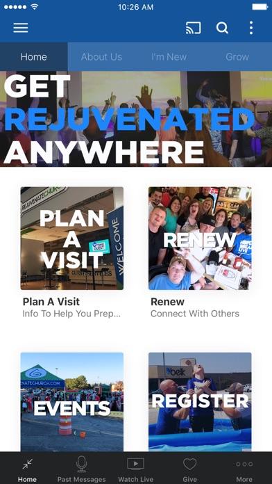 Rejuvenate Church App screenshot one