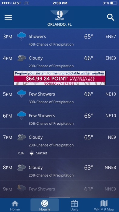 WFTV Channel 9 Weather App Report on Mobile Action - App Store
