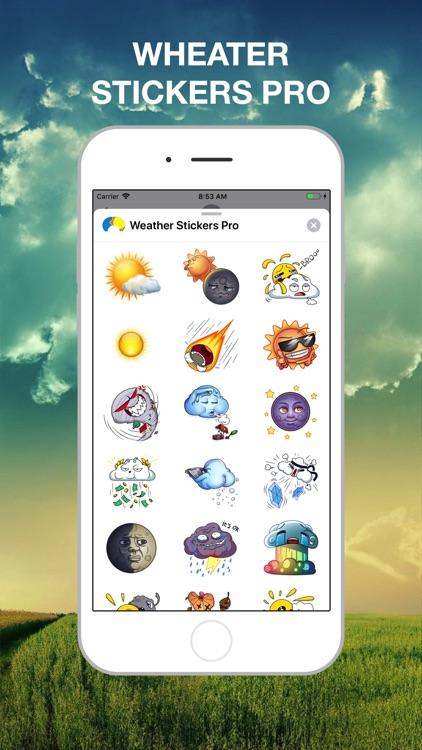 Weather Stickers Pro screenshot-3