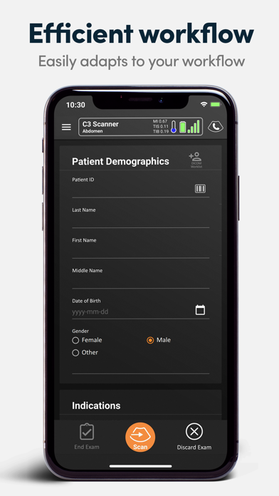 Clarius Ultrasound App screenshot three