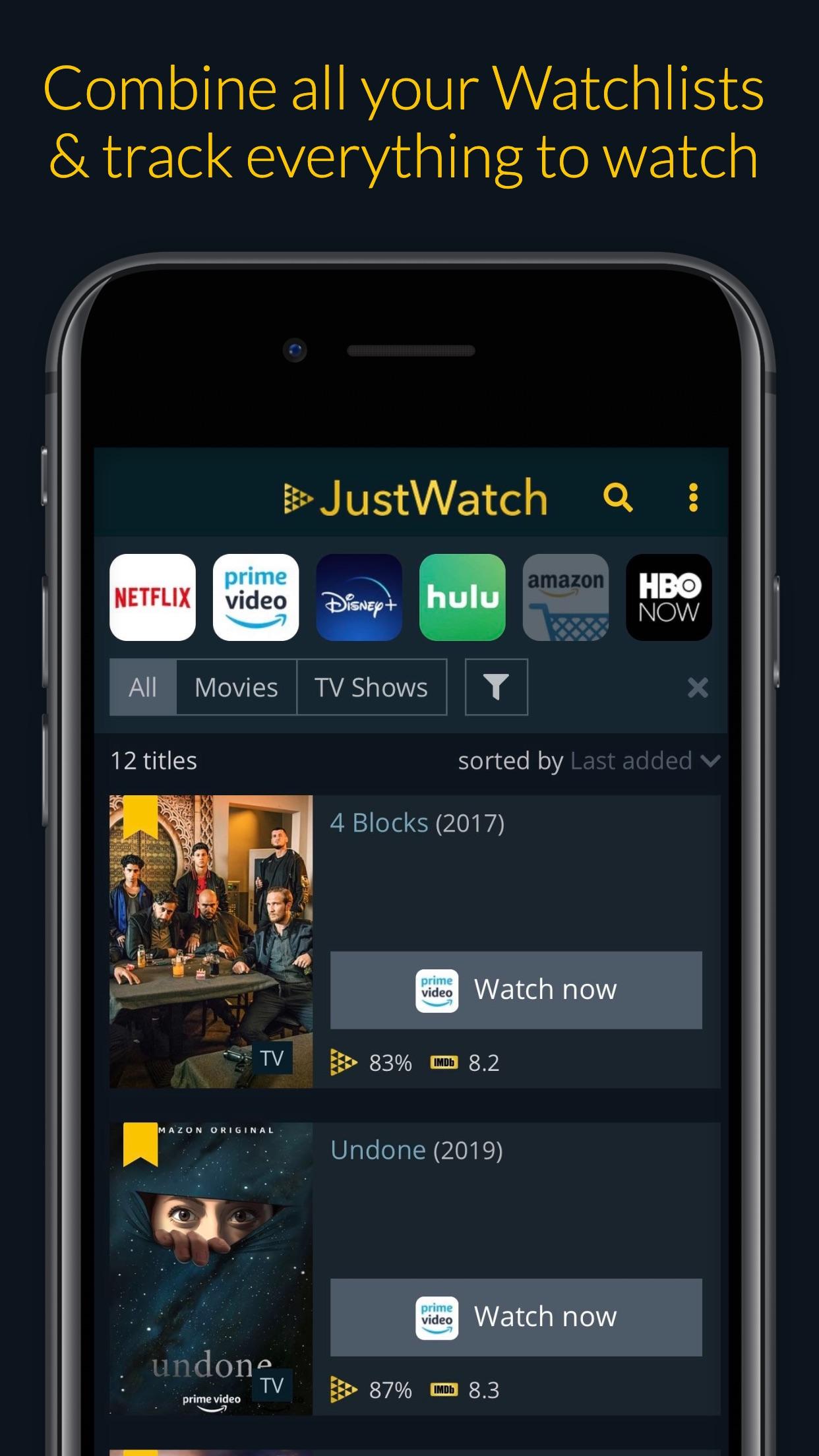 JustWatch - Filmes e Séries Screenshot