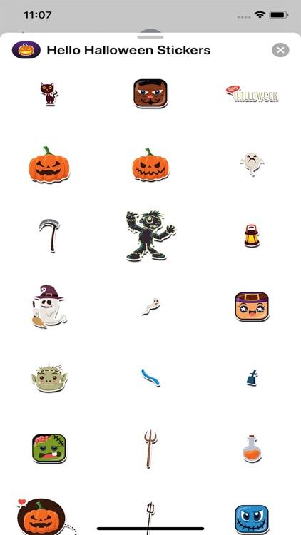 Hello Halloween Stickers screenshot-4