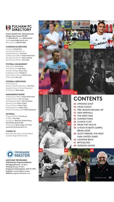Fulham FC Programme screenshot two