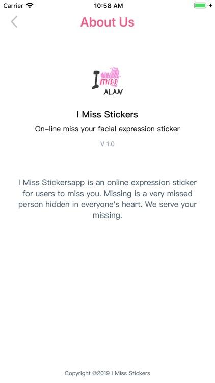 I Miss Stickers screenshot-3