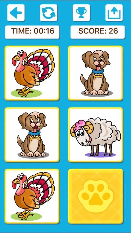 Animal Memory Matching Games screenshot-9