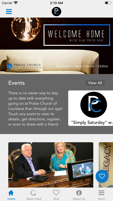 Praise Church of Louisiana App screenshot 2