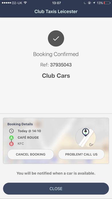 Club Taxis Leicester screenshot four