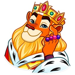 Funny Lion King Sticker