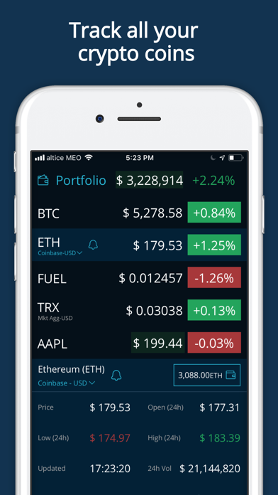 HODL Real-Time Cryptocurrency - 窓用