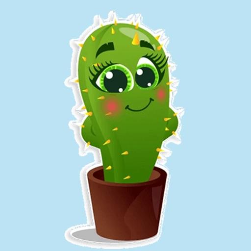 Cactus emoji - funny plants