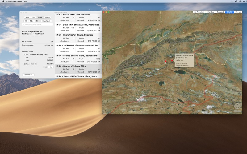 Earthquake Viewer for Mac