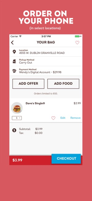 Wendy\'s on the App Store