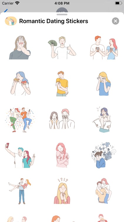 Romantic Dating Stickers
