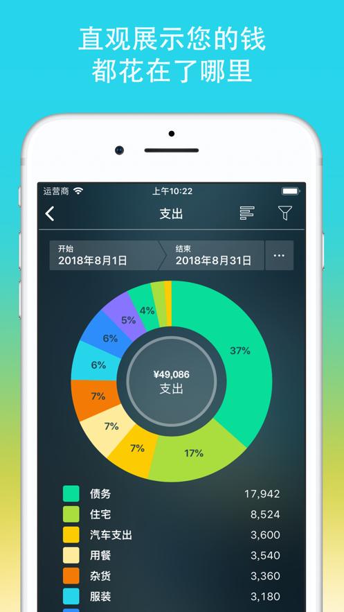 专业记账助手Money Pro:家庭及个人理财一站式解决 App 截图