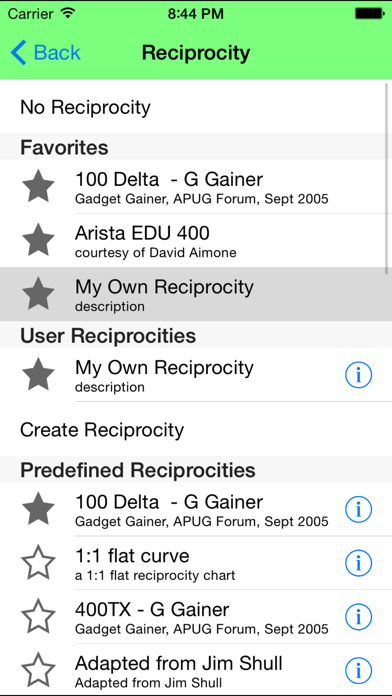Reciprocity Plus Screenshot 3