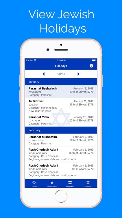 Jewish Calendar and Dates screenshot-4