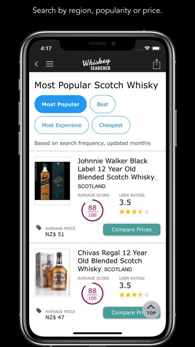 WhiskeySearcher Screenshot