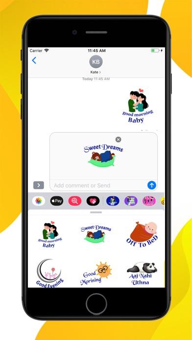 Daily Greetings Hindi Stickers screenshot 2