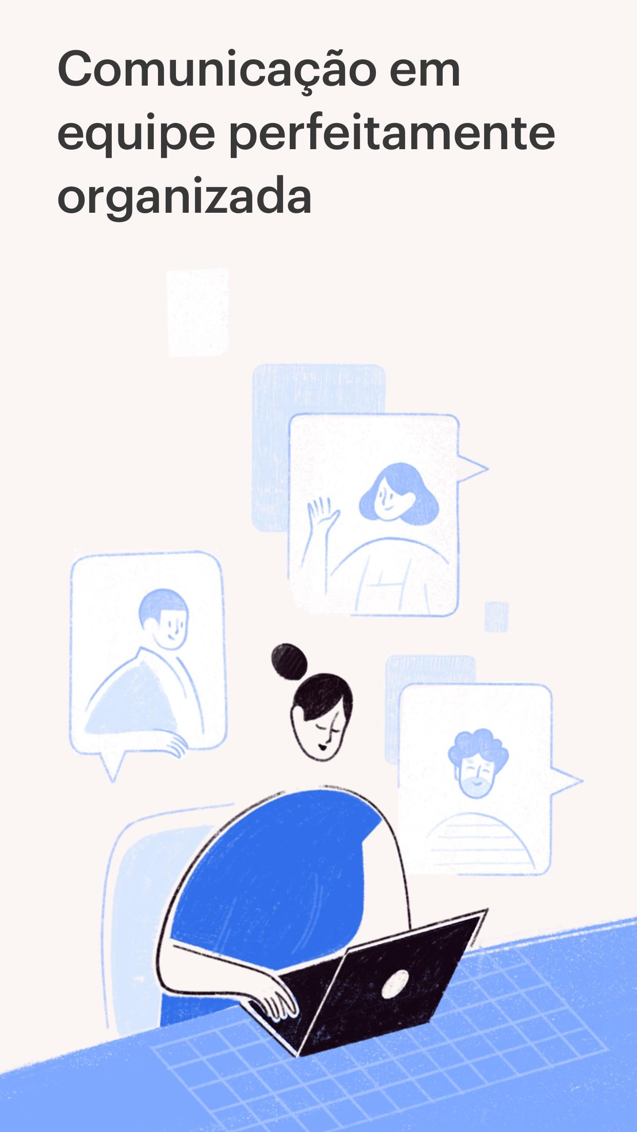 Screenshot do app Twist Comunicação para Equipes