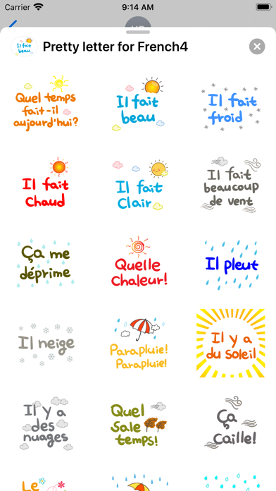 Pretty letter for French4 screenshot 3