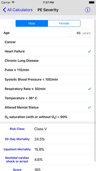 Screenshot #2 pour MediMath Medical Calculator