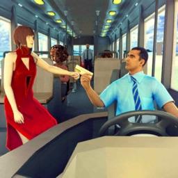 City Bus Driving Passenger