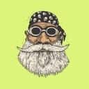 Movember Mustache Stickers Emo