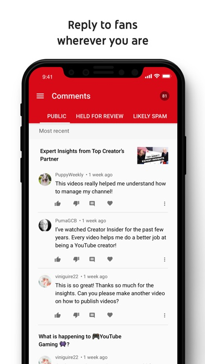 YouTube Studio screenshot-3