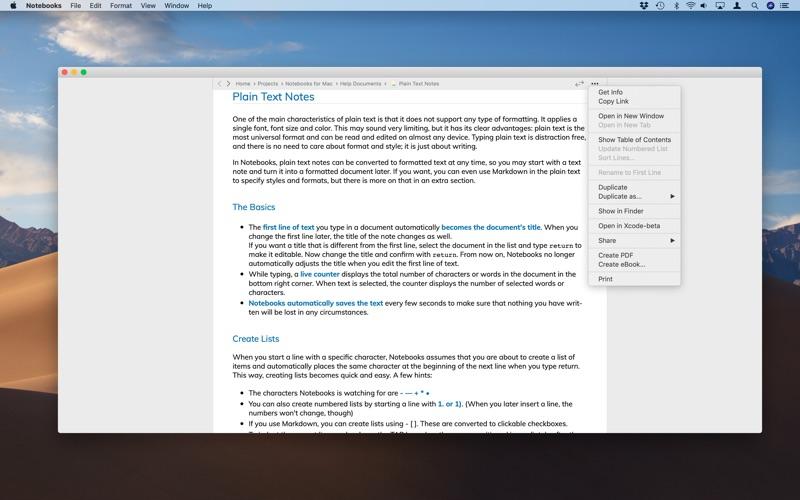 Notebooks - Write and Organize