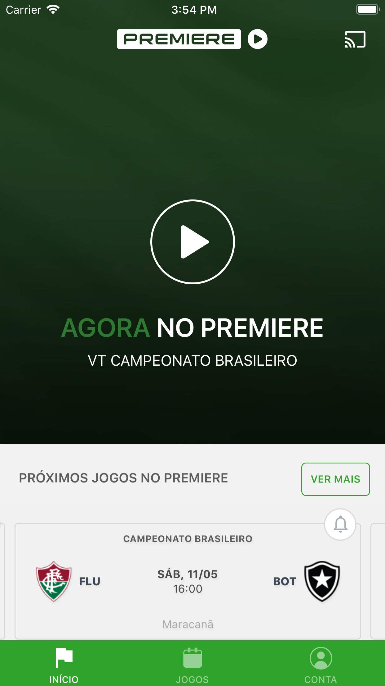 Screenshot do app Premiere