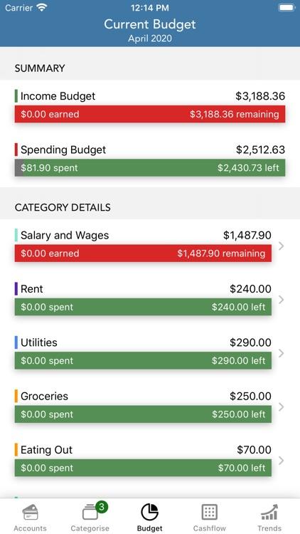 PocketLion PocketSmith Budget screenshot-5