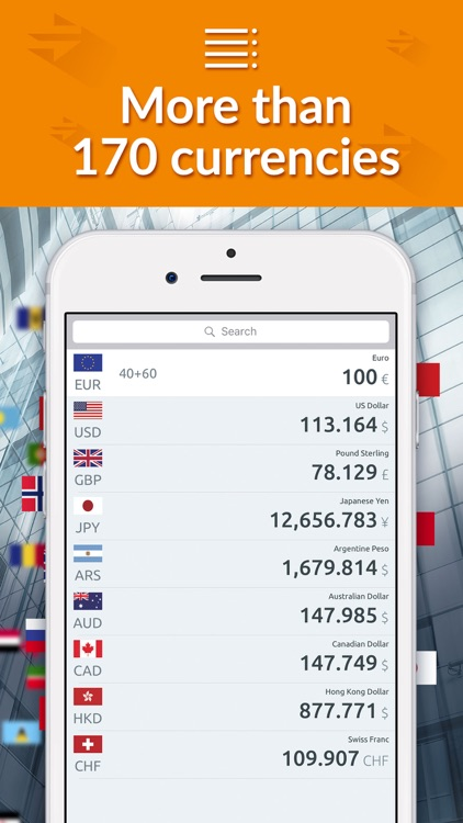 Currency converter, live rates screenshot-0