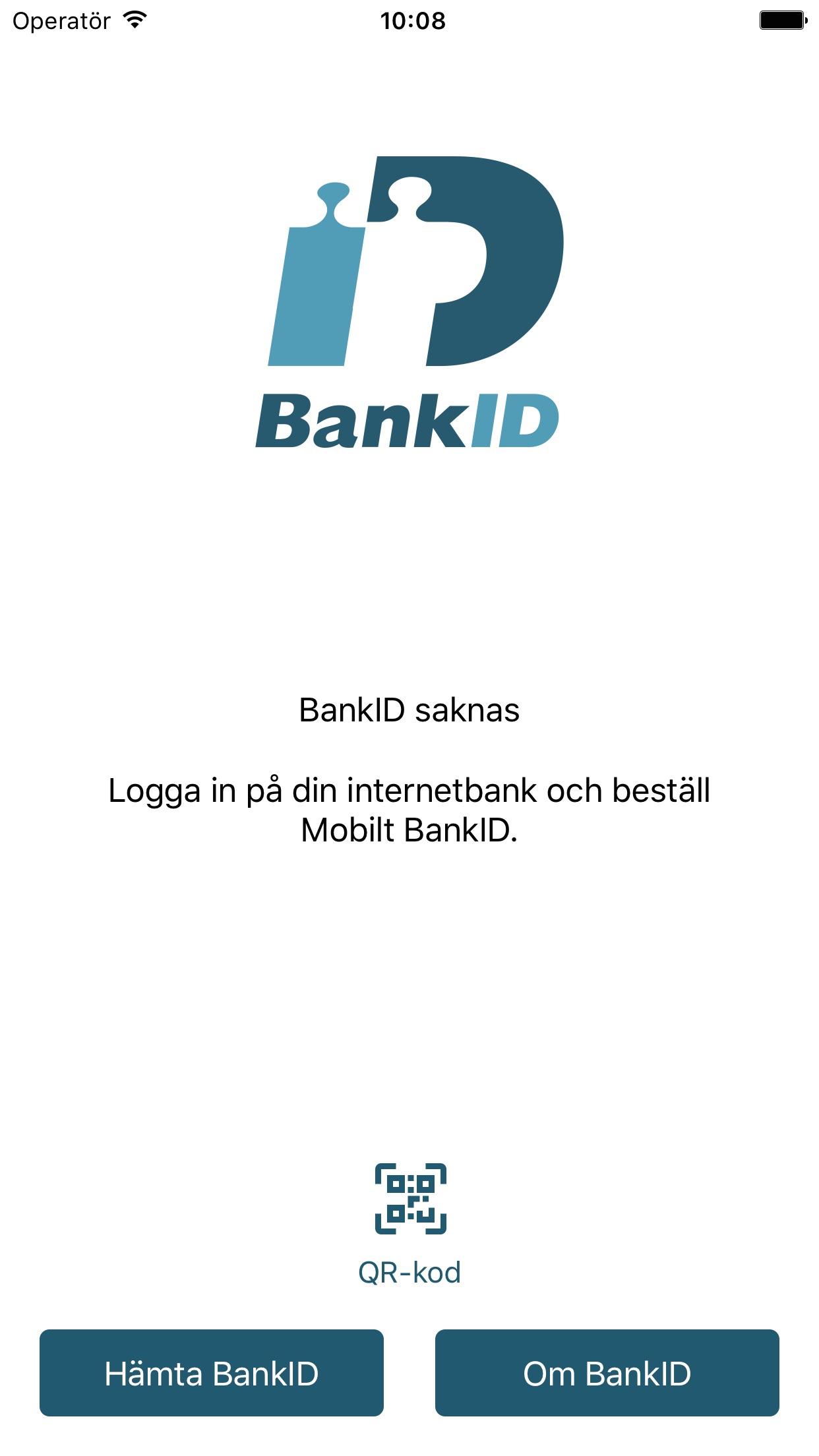 BankID säkerhetsapp Screenshot