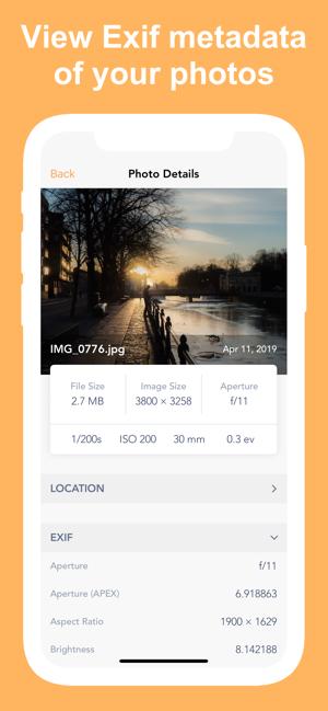 Exif Metadata Screenshot