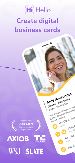 HiHello: Digital Business Card Screenshot