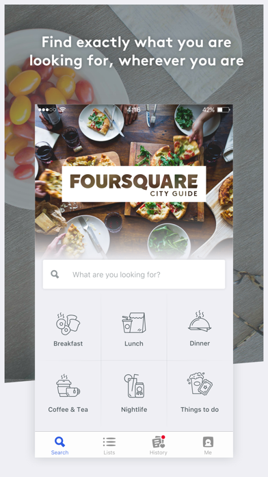 Foursquare City Guide review screenshots