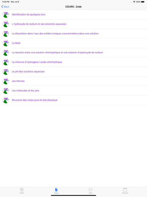 Cours de Chimie screenshot 12