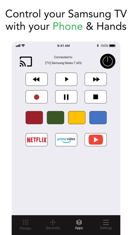 Smart TV Remote for Samsung.