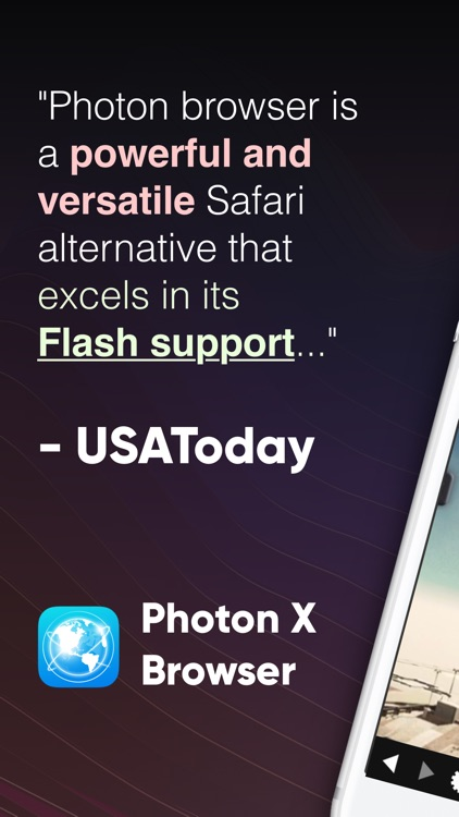 Photon X Flash Player Browser