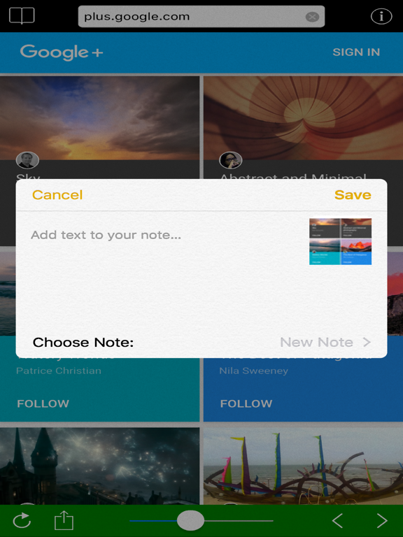 Slider Browser Screenshots