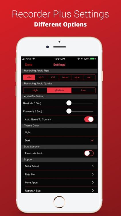 Recorder Plus : Voice Recorder screenshot-7