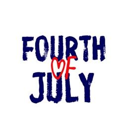 USA JULY 4 Sticker Pack