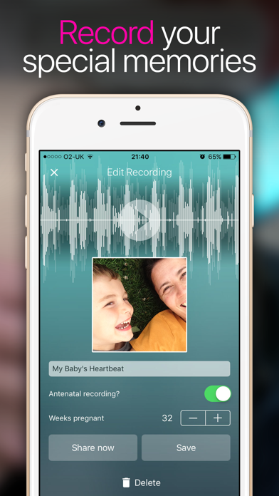 Hear My Baby Heartbeat App Screenshot