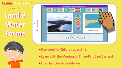 Montessori Land & Water Forms screenshot 1