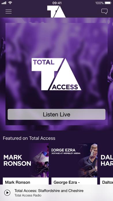 Total Access Radio screenshot one